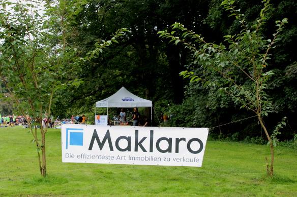 Maklaro-Banner beim MOPO-Lauf im Stadtpark Hamburg