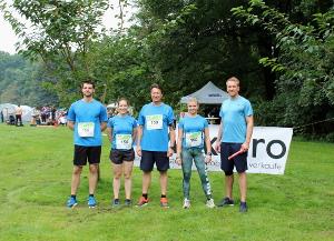 Die Läufer vom Maklaro-Team