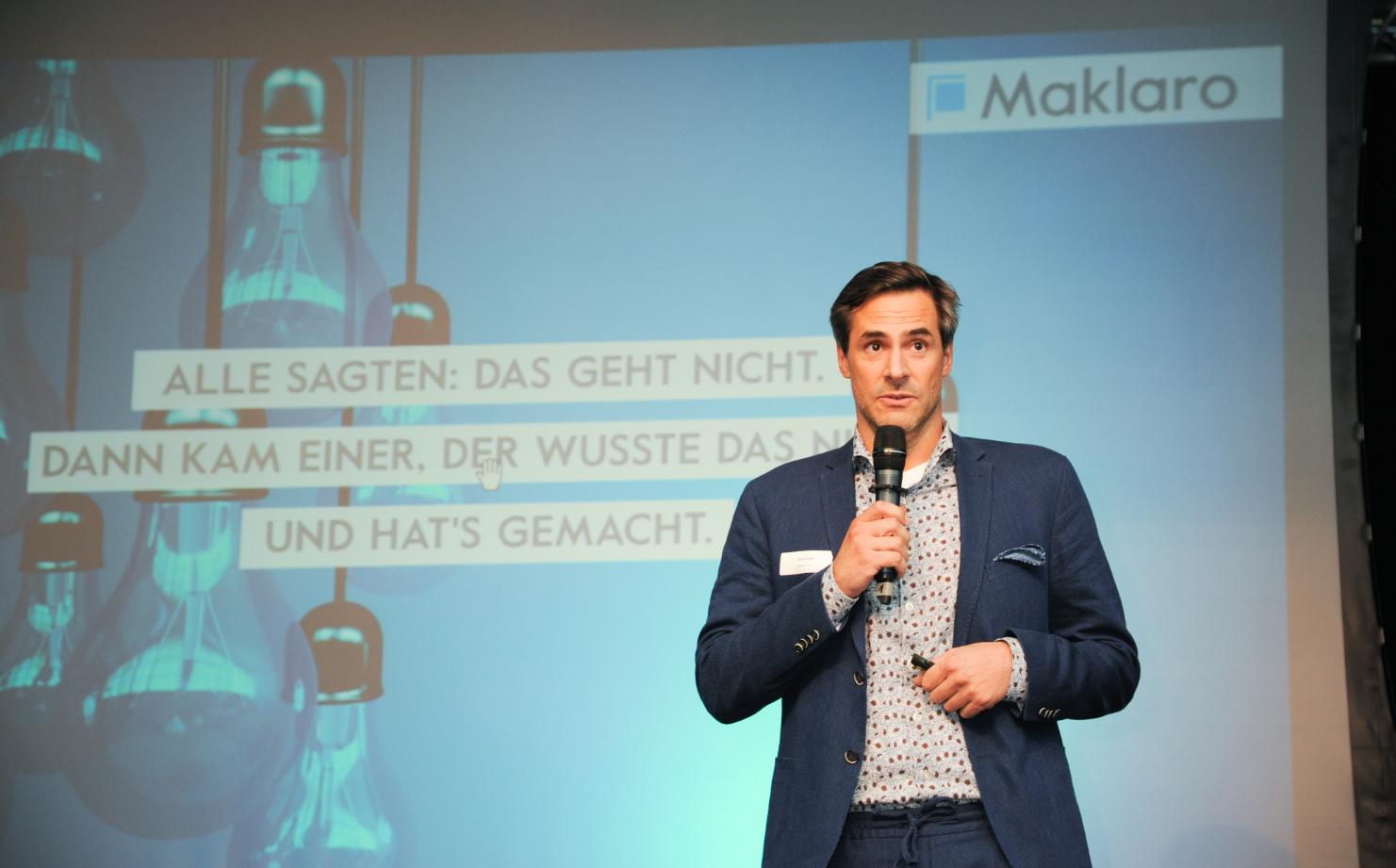 Nikolai Roth CEO & Founder von Maklaro als Speaker bei der immoebs