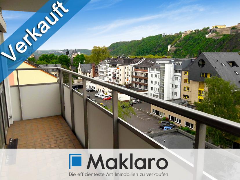 Aussichtslage am Deutschen Eck: Zimmer-Eigentumswohnung mit zwei Balkonen in Koblenz