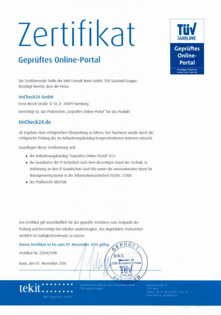 TÜV-Zertifikat Maklaro