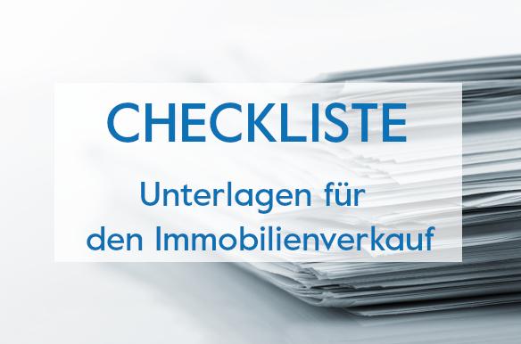 Checkliste Unterlagen Immobilienverkauf