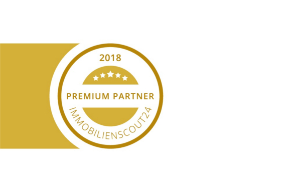 Titelbild: Siegel zum Immobilienscout24 Premium Partner 2018