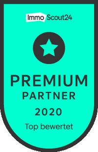 Titelbild: Siegel zum Immobilienscout24 Premium Partner 2020