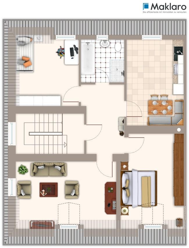 Badezimmer grundriss dachgeschoss ihr ideales zuhause stil for Badezimmer grundriss modern