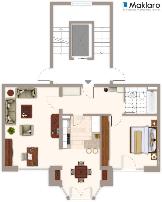 lichtdurchflutete 2 zimmer wohnung in k ln porz. Black Bedroom Furniture Sets. Home Design Ideas