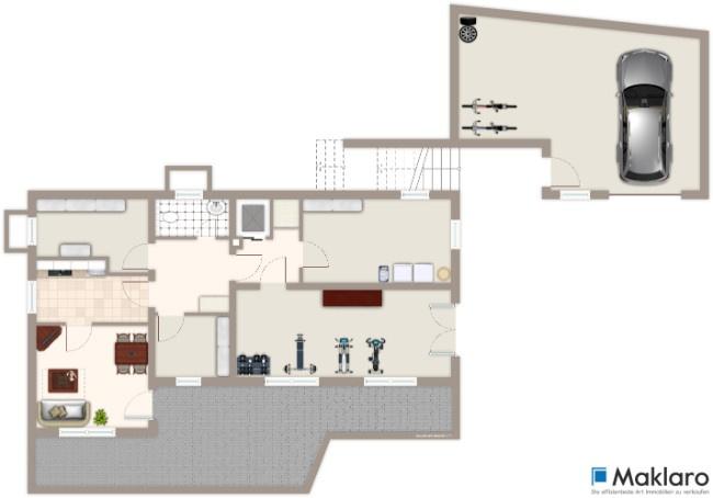 Einfamilienhaus mit garten in leimen - Grundriss garten ...
